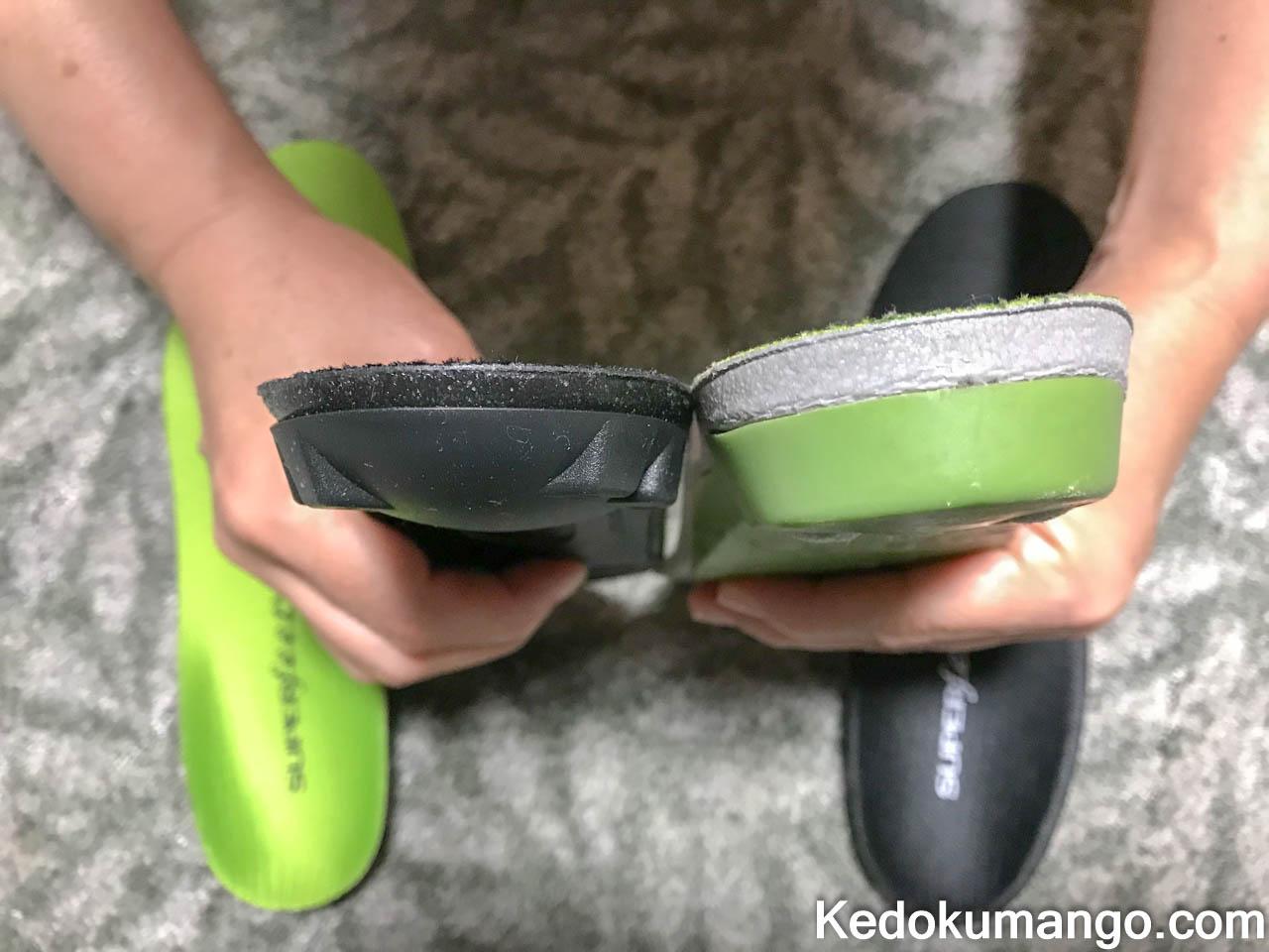 グリーンとブラックの厚さの違い