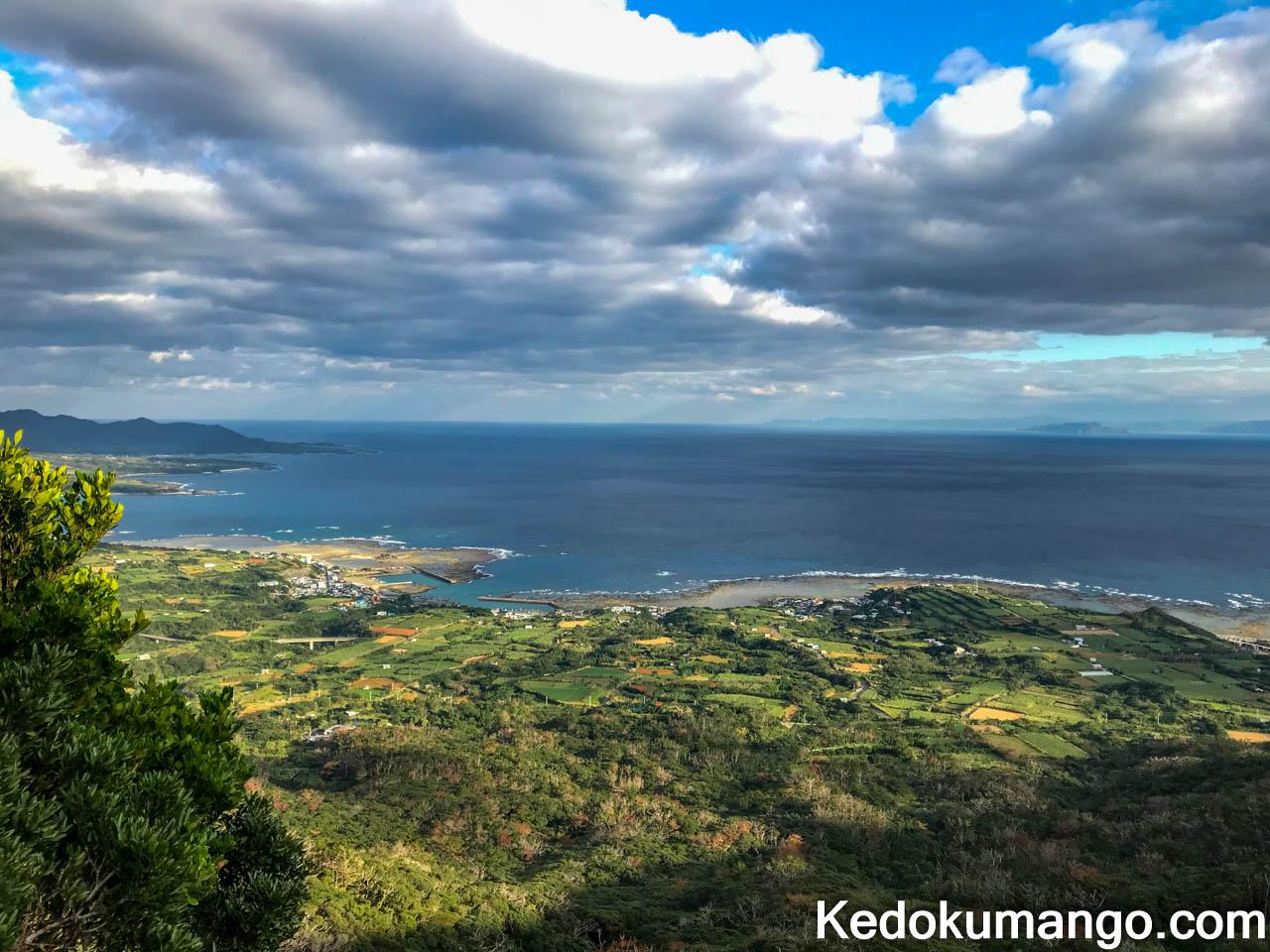 井之川岳の展望台からの風景